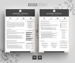 resume template simple simple resume template anata resume templates creative market