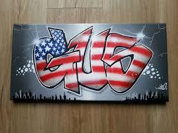 tag chambre tableau graffiti décoration york graff deco chambre d enfant