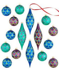 60ct clear iridescent shatterproof ornaments 2 5