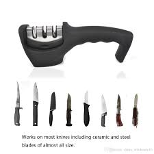 sharpening ceramic kitchen knives homgeek sharpeners 3 stages knife sharpener ceramic coarse and