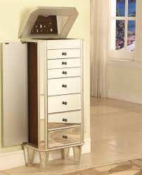 Armoire Drawers Furniture Mirror Jewelry Armoire With Drawers And Double Door For