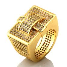 king gold rings images 14k gold rectangle cz ring hip hop jewelry king ice gold jpg