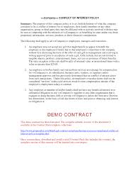 10 Vendor Non Compete Agreement Of Interest Policy