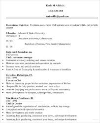 Example Of Chef Resume Executive Resume Templates 27 Free Word Pdf Documents Download