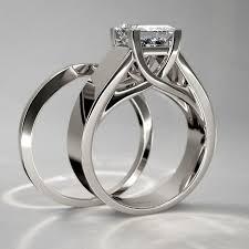 princess cut wedding set princess cut diamond wedding set in 14k white gold