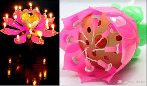 birthday candle flower birthday party flower candle new lotus candles happy