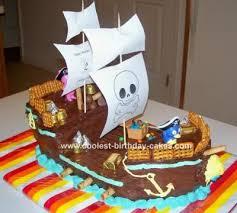 Pirate Cake Decorations Coolest Pirate Ship Cake