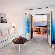 sea view suite with living room mykonos grand hotel u0026 resort