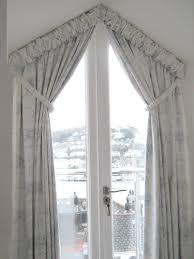 curtains triangular window google search window dressings
