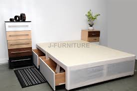 King Size Bed Prices White Divan Bed Base Single Double King Size Choose Size Storage