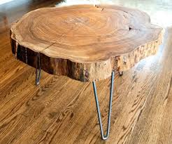 robust wooden stump side table with tree stump coffee table tree