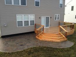 cedar deck and brick paver patio decks our projects
