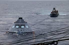 orion crew module underway recovery testing nasa