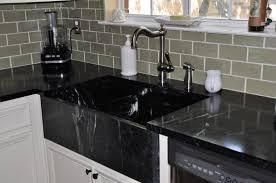 kitchen blue kitchen island black marble countertop