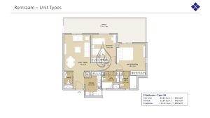 reraam 2 bedroom type 1 floor plan