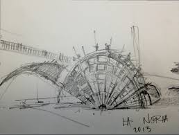 artist is one step away from building a water wheel on the la