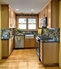 kitchen narrow beach house kitchen design with sleek blue