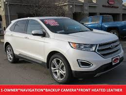 ford edge crossover 2016 used ford edge titanium awd heated leather navigation premium