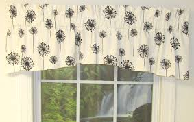 Valance For Bathroom Posey White Black Jasper Valance Kitchen Curtains Valances Swags