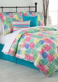 home accents pineapple punch reversible bed in a bag quilt belk
