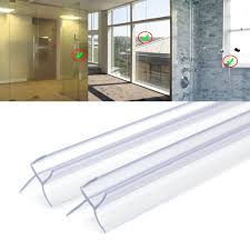 2x bath shower screen door seal strips 6 8mm glass door 13mm gap 2x bath shower screen door seal strips 6 8mm glass door 13mm gap flat curved