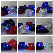 led new years fedora hat led new years party blinking boys and