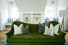 light green couch living room living room lime green sectional sofa blue wall indoor plant with