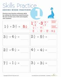 fraction practice 5th grade worksheets education com
