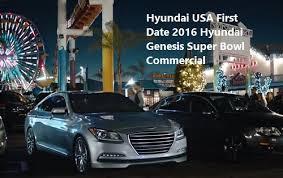 hyundai genesis usa hyundai usa date 2016 hyundai genesis bowl commercial