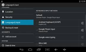 android settings open android settings app without the left side menu tablet mode