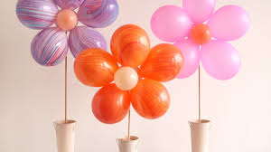 Balloon Decoration For Birthday At Home by Video Diy Floral Balloon Bouquet Martha Stewart