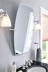 Brushed Nickel Mirror Bathroom by Wall Ideas Pivoting Wall Mirror Pivoting Bathroom Wall Mirror