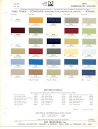1970 u0027s ford paint charts retro rides