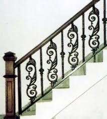 cast iron stair rail wrought iron railing ornament iron stair