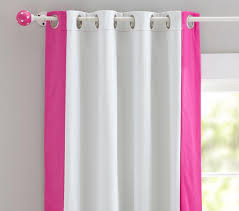 colour bordered blackout curtain pottery barn kids