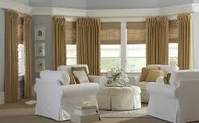 Roman Shade With Curtains Natural Roman Shades