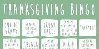 thanksgiving day definition thanksgiving bingo will get you through the day huffpost