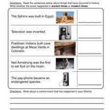 sequence events worksheets worksheets