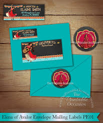 princess elena of avalor envelope stickers for birthday