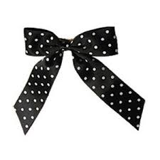 black and white polka dot ribbon big black with white polka dot ribbon bow hairclip polyvore