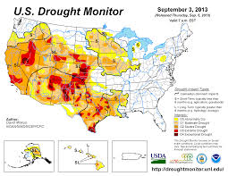 Midwest United States Map by September 2013 Drought And Impact Summary