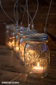 Mason Jar Halloween Lantern Set Of 5 Hanging Mason Jar Candle Holders Farmhouse Wedding