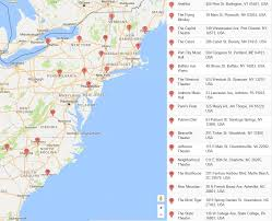 Map Of Charlottesville Va East Coast College Map 2017 Spring East Coast Tour Melvin Seals