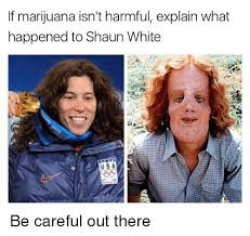 Shaun T Memes - if marijuana isn t harmful explain what happened to shaun white s a