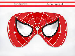 photos spider man mask printable template spider man