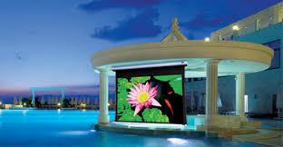 Backyard Projector Screen by Stewart Oasis 16 9 Outdoor Weatherized Projector Screen