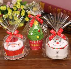cupcake gift baskets handmake santa claus snowman christmas tree cupcake towel creative
