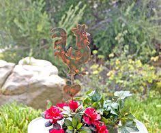 Sheet Metal Garden Art - rooster decor garden stake metal garden art yard art