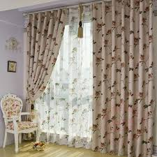 Brown And Ivory Curtains Ivory Eco Friendly Brown Printed Floral Polyester Curtains Buy