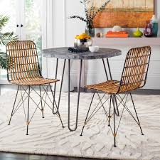 safavieh minerva natural brown wash wicker dining chair set of 2